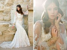 Moroccan Bridal inspiration with a gorgeous Claire Pettibone dress