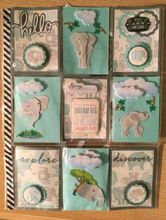 Pocket letter by Brittany Mitchell. Elephant Theme.