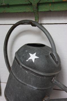 Image of Petit arrosoir à semis en zinc.