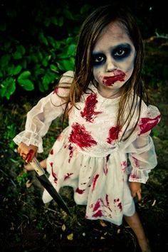 Zombie kid Halloween makeup