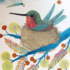 Mama hummingbird by Genine.