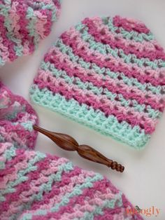 The Loopy Love Hat is a great addition to the Loopy Love Blanket! This free crochet hat pattern includes 5 sizes - to match the blanket's 7 sizes!