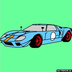 new ford gt coloring page lots of cool sports cars to color http