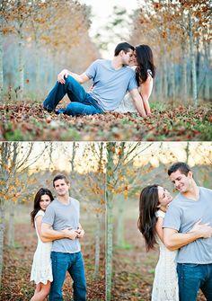 Adorable fall engagement photos.