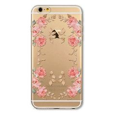 """Fundas Phone Case Cover For iPhone 6 6S 4.7"""" Ultra Soft Silicon Transparent Cute Shoes Girl Flowers Animals Mobile Phone Bag"""