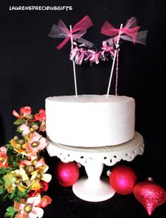 shabby chic Minnie Mouse cake topper by LaurensPreciousGifts, $9.75