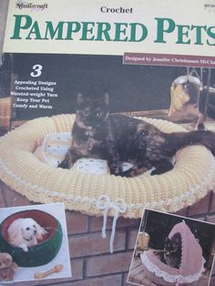 Pampered Pets Crochet Patterns to Make Cat by OnceUponAnHeirloom