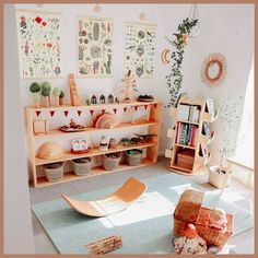 Montessori and Waldorf Inspired Playrooms - Squirrelly Minds Playroom Design, Kids Room Design, Playroom Decor, Nursery Decor, Montessori Playroom, Toddler Playroom, Waldorf Playroom, Montessori Baby, Kid Spaces