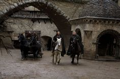 Nicolas Cage, Ron Perlman, Stephen Campbell Moore, and Robert Sheehan in Season of the Witch Robert Sheehan, Nicolas Cage, Stephen Campbell Moore, The Witch Movie, Ron Perlman, Season Of The Witch, Louvre, Seasons, History