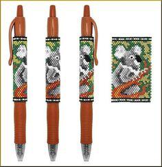 Koala Pilot G2 Pen Peyote Pattern by Kristy Zgoda
