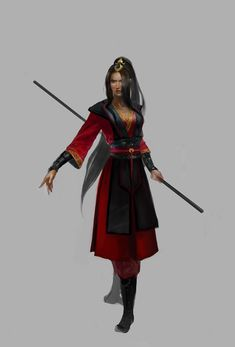 Kinda reminds me of Azula (A:TLA) with the crown thing and the hair.
