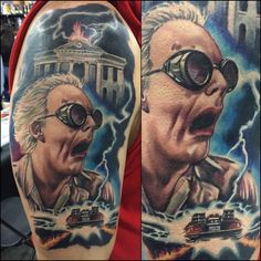 Back to the Future Tattoo by Josh Bodwell Tattoo  @joshbodwell