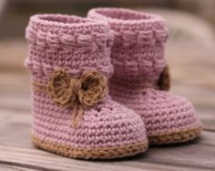 "Crochet pattern girls booties, Baby Bootie Crochet Boots ""Willow Boots"" Girls cute crochet pattern PATTERN ONLY"