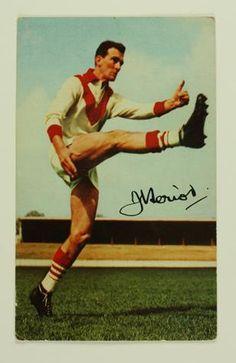 Football Card - John Heriot, South Melbourne, Mobil VFL Football Photos Series, 1965
