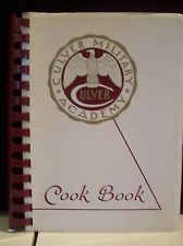CULVER COOK BOOK - Culver Military Academy - Culver, Indiana - 1963;S/C  #culver #school