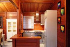 Casa de Madeira Joinville » Galeria de Fotos Kitchen Room Design, Casa Real, Tiny House, Sweet Home, New Homes, Kitchen Cabinets, Interior Design, Furniture, Home Decor