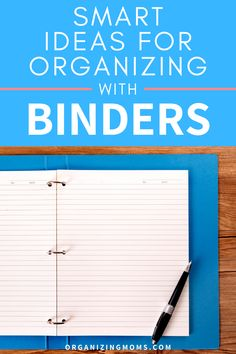 How to organize your paperwork with binders. A great way to have everything easily accessible. Set up your own binder organization system today. #Organizing #Decluttering #organizingmoms Home Management, Time Management Tips, Organized Mom, Getting Organized, Binder Organization, Organizing, Home Binder, Laundry Hacks, Organize Your Life