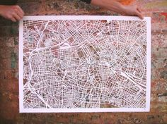 Beautiful Paper Cut-out Maps!