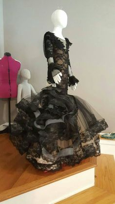 Your place to buy and sell all things handmade Mermaid Gown, Lace Mermaid, 15 Dresses, Flower Girl Dresses, Girls Dresses, Descendants Costumes, Gowns Of Elegance, Lace Dress Black, Handmade Dresses