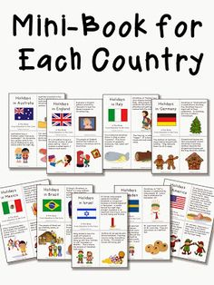 Education to the Core: Holidays/Christmas Around the World Unit and Mini-Books