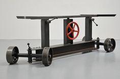Industrie Stahl Tischgestell Höhenverstellbarkeit