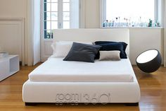 Bloom Modern Designer Platform Bed by Bonaldo Upholstered Platform Bed, Upholstered Beds, Leather Bed, Contemporary, Modern, Bloom, My Style, Fabric, Furniture