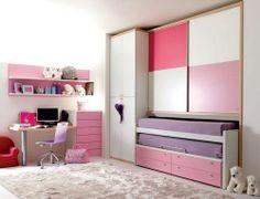 Kinderbett mit Schreibtisch (Mädchen) 932 Doimo Cityline