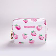 f87101e17086 DUDINI Creative Lady Strawberry Cosmetic Bag Large Capacity Storage Bags  Women Portable Leather Travel Toiletry Bag Make Up Bags