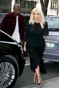 Kim Kardashian and Kanye West in Paris on March 11, 2015.   - Cosmopolitan.com