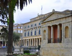 Palace, Corfu Town, Corfu Greece, Islands, Louvre, Facebook, Mansions, House Styles, Building