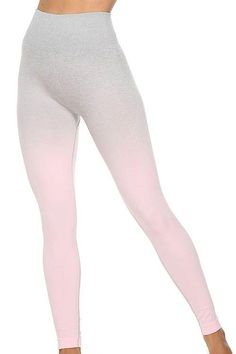 Seamless Gradient Bra Leggings Set – myslady Pink Leggings, Colorful Leggings, Red And Grey, Pink And Green, Activewear Sets, Sport Wear, Red Color, What To Wear, Active Wear
