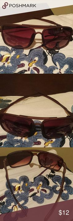 Sunglasses Brown sunglasses  soft to the touch sunglasses beautiful and very classy. You will love these sunglasses because they block the UV ray of the sun and are comfortable and stylish. I really love these glasses I will be purchasing me a pair of my own... Accessories Sunglasses