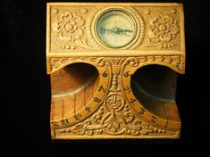 Full: Front Front view of a wooden double scaphe sundial © The Trustees of the British Museum Museum Shop, Sundial, Detailed Image, British Museum, Compass, Instruments, Gallery, Roof Rack, Musical Instruments