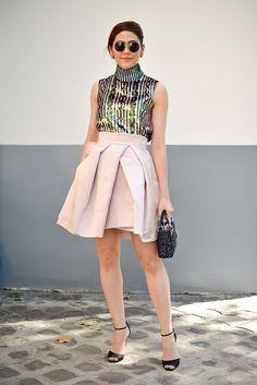 Chompoo Araya A. Hargate in Dior - Paris Fall 2015 Couture Week street style - July 2015