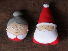 Santa Claus adorno ornamento de Sra. Claus por FeltBabyCorner