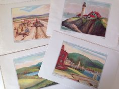 A personal favorite from my Etsy shop https://www.etsy.com/listing/249163135/vintage-paper-placemats-maine