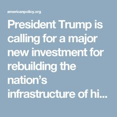 President Trump is calling for a major new investment for rebuilding the nation's infrastructure of highways, bridges and more. There is no question that it needs to be done. However, it's vitally important that local, state and federal government agencies avoid calls to fund this massive effort through so-called Public/Private Partnerships (PPPs). Local officials must understand that there is a vast difference between calls for a competitive biding process to select private companies for…