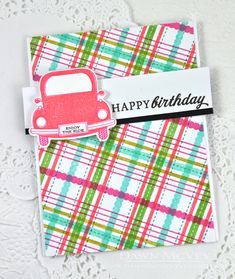 Enjoy The Ride Revisited: Happy Birthday Card by Dawn McVey for Papertrey Ink (June 2015)