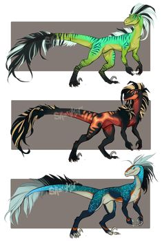 Raptor Adopts [OPEN] by Smooshkin.deviantart.com on @DeviantArt