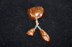 Vintage 1960's - Baltic Amber Pin by TheMercerStreetHouse on Etsy