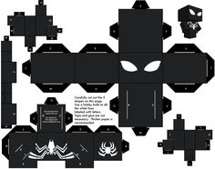Black Spiderman cubeecraft