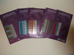JAMBERRY JUNIOR NAIL WRAPS LOT OF 5 NEW FROZEN HALLOWEEN TURKEY              #JAMBERRY