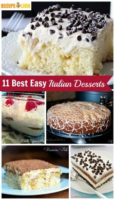 The Best Easy Italian Desserts - From Cannoli Poke Cake, to tiramisu, and everything in between! These easy dessert recipes inspired by Italian cuisine are amazing. (Now updated to 20 Italian dessert recipes!)