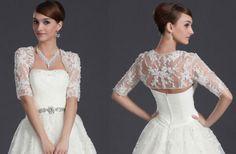 Half Sleeve Lace Bolero/Shawl/Jacket/Shrug/Stole for Wedding Dress/Bridal Gown