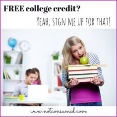 FREE college credit? From your living room? Yeah, sign me up for that!