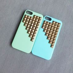 Studded iPhone 5S Case - Studded iPhone 4S Case - Couple iPhone 5 Cases - Unique Wedding Gifts for Couple