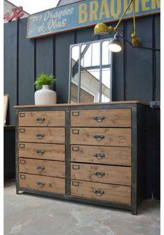 Fabrication meuble industriel à tiroirs