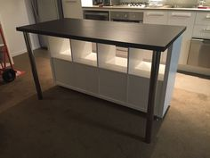 Magnificent Ikea Kitchen Island Hack Cheap Stylish Ikea Designed Kitchen Island Bench For Under Stunning Ikea Kallax Ideas Hacks - prlinkdirectory Kitchen Island Bench Designs, Kitchen Island Ikea Hack, Kitchen Ikea, Kitchen Island Table, Home Decor Kitchen, Kitchen Furniture, Diy Furniture, Kitchen Islands, Kitchen Craft