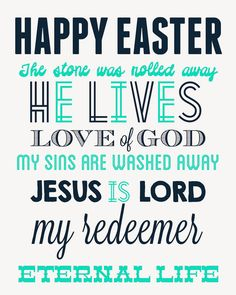 Free Easter Subway Art Printable From Detail Oriented Diva - Available in 2 color schemes!