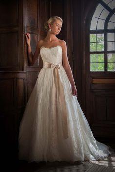 Kim wedding gown, lace wedding gown, lace ballgown, Augusta Jones